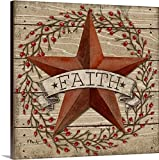Paul Brent Gallery-Wrapped Canvas entitled Barn Star with Berries I