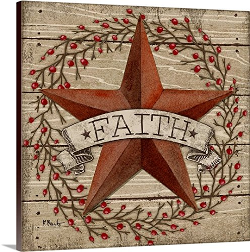 Paul Brent Gallery-Wrapped Canvas entitled Barn Star with Berries I by greatBIGcanvas