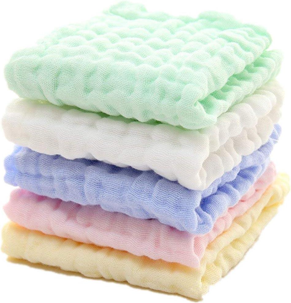 Toallitas para bebés de muselina para bebés recién nacidos - Toallitas extra suaves de algodón orgánico natural - Toallita para toalla facial para pieles sensibles