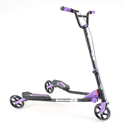 Yvolution Y Fliker Carver C5 | Kids/Adult Drifting Scooter with 3 Wheels Self Propelling : Sports & Outdoors