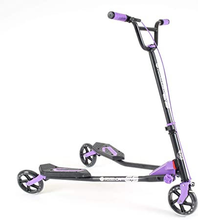 Yvolution Y Fliker Carver C3, C5 | Foldable Drifting Wiggle Scooter for Kids Age 7+ Years and Adults