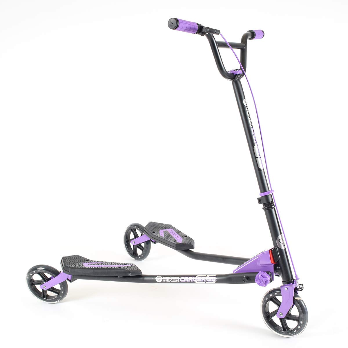Yvolution Y Fliker Carver C5 | Kids/Adult Drifting Scooter with 3 Wheels Self Propelling