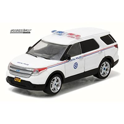 Greenlight 1: 64 Blue Collar Collection Series 2 - 2014 Ford Explorer Postal Police Diecast Vehicle: Toys & Games