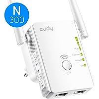 Cudy RE300 WLAN Repeater, 300 Mbit/S, WPS, 2 Ethernet Ports, AP Modus, Deutsche Firmware, WLAN Verstärker, WLAN VERSTAERKER, kompatibel zu Allen WLAN Geräten