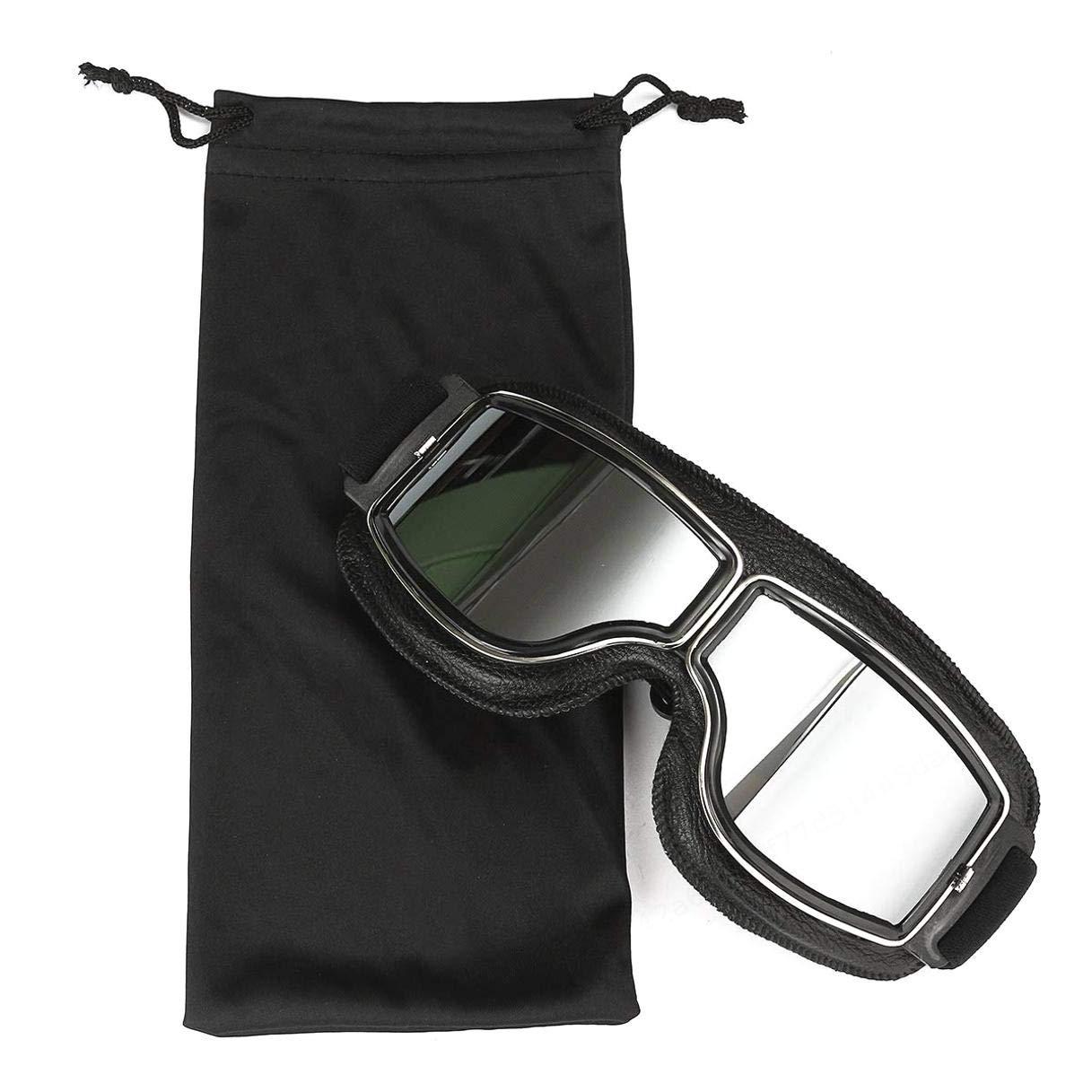Aurora Lime Motocross Helmet Goggles Sports Sunglasses Helmet Steampunk Eyewear for Outdoor Windproof Grey