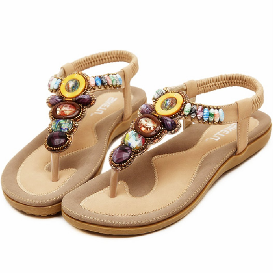 INNICON Women Sandals Fashion Woman flip Flop Sandal Bohemian Style Female Casual Wild Flat with Beach Shoes