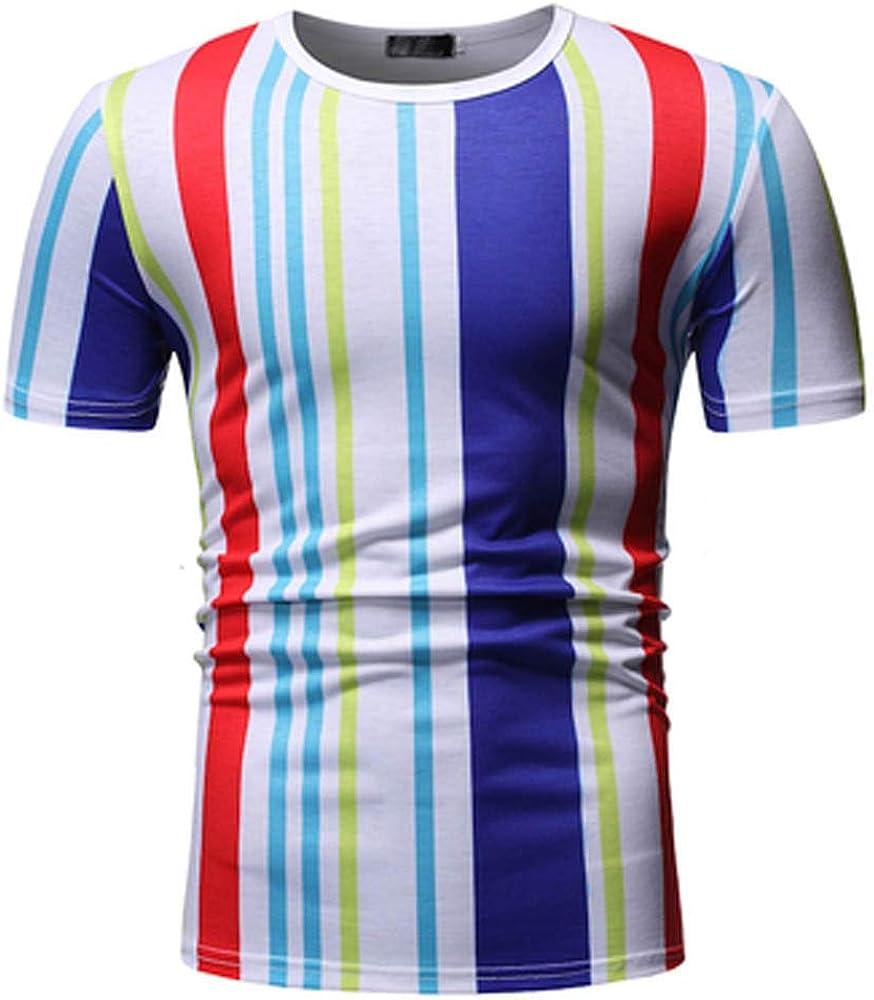 MEIbax Explosión Costura de Moda Camiseta de Hombre Ocio Cuello Redondo Manga Corta de los Hombres Camisa Deportiva Hombre Cómodo y Transpirable Tops de Hombre Ropa de Hombre Sudadera Hombre Jersey: Amazon.es: