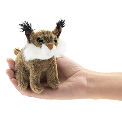 Folkmanis Mini Bobcat Finger Puppet: Toys & Games