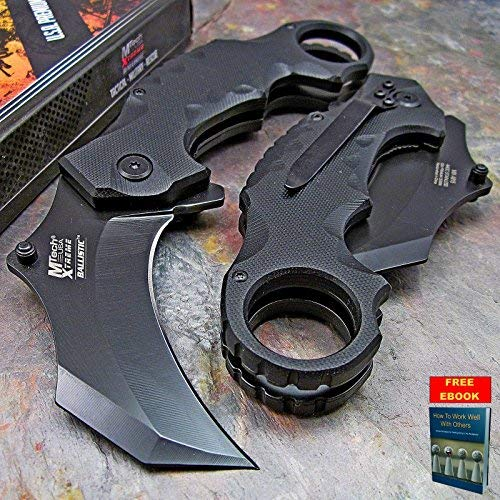 Pocket Knife TACTICAL FOLDING KNIFE Spring Assisted Open MTECH XTREME KARAMBIT 2.5