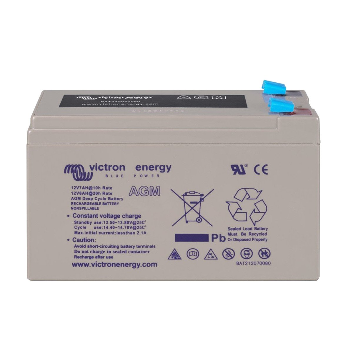 Victron Energy - Batterie 14Ah 12V AGM Deep Cycle Victron Energy Photovoltaïque Nautique - BAT212120084