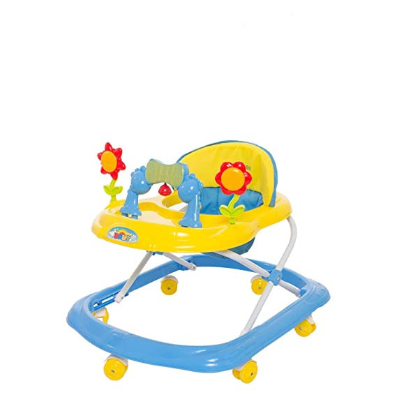 GoodLuck Baybee Round Baby Walker for Kids | Music & Light Function with 3 Position Height Adjustable kis Walker,Fun Toys & Activities for Babies/Childs (6 Months to 2 Years) (Yellow)