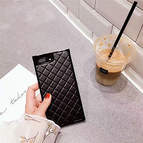 Grid Leather Cases for iPhone 7plus Diamond Lattice Back Cover for iPhone 8Plus Rhombic Sheepskin Capa Fundas for iPhone 7 Plus/8 Plus (iPhone 7 Plus/8 Plus 5.5'', - Fashion Grid