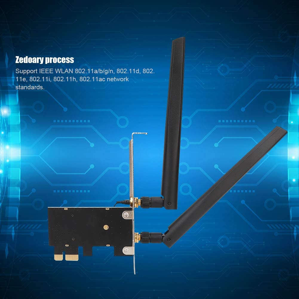 M.2 NGFF Wireless Network Card to PCI-E Network Card Adapter Dual Band Network Card Support WiFi and Bluetooth for Intel 9260 Tangxi m.2 NGFF Wireless Network Adapter 7260AC AX200