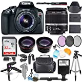 Canon EOS Rebel T6 DSLR Camera with Canon 18-55mm IS II Lens Kit + 0.43x Wide Angle Lens + 2x Telephoto Lens + 32GB SD Memory Card + HD Filter Kit + Flash Diffusers + Full Premium Accessory Bundle