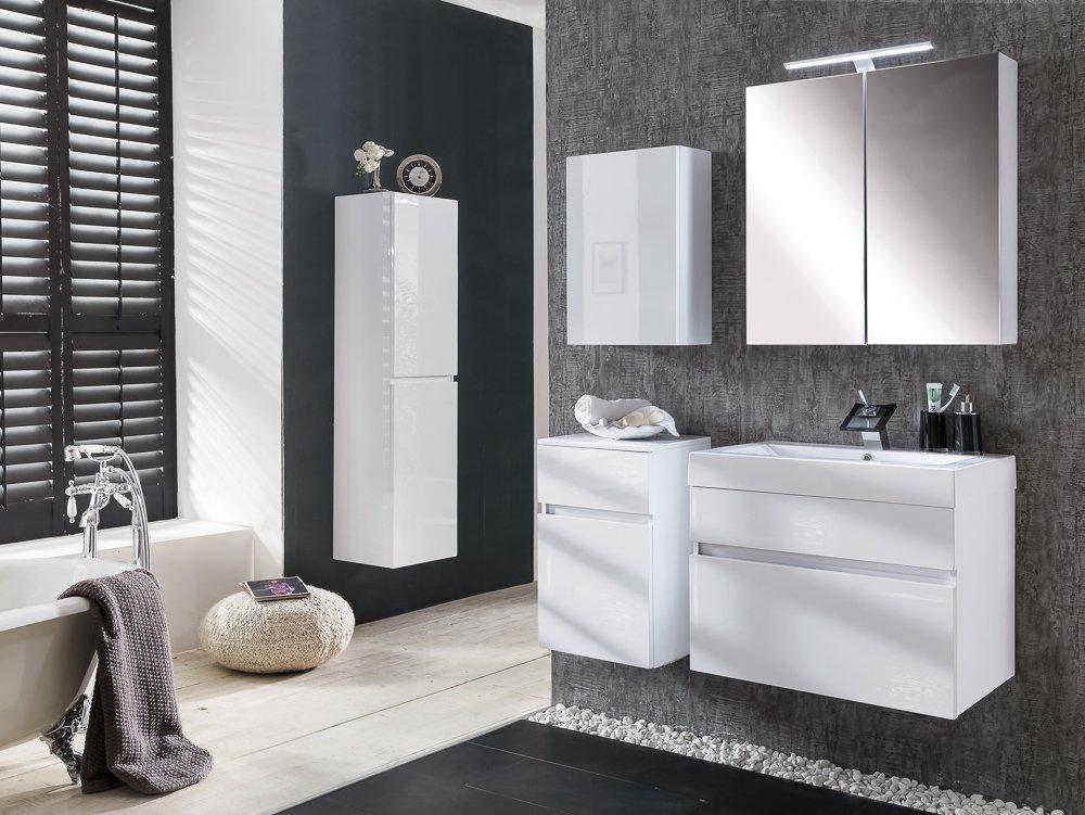 SAM® Design Badmöbel-Set Parma, 70 cm, in Hochglanz weiß, 5tlg ...