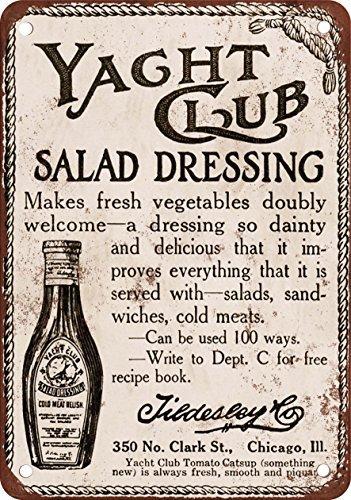 1914 Yacht Club Salad Dressing Vintage Look Reproduction Metal Tin Sign 12X18 (Doris Salad)