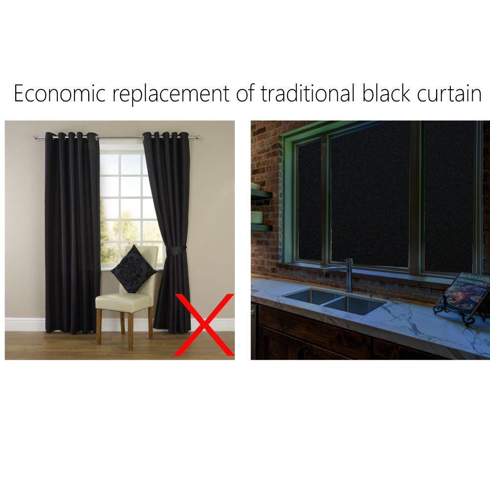 PlentyFlair Privacy Black Static Best Window Tint for Home