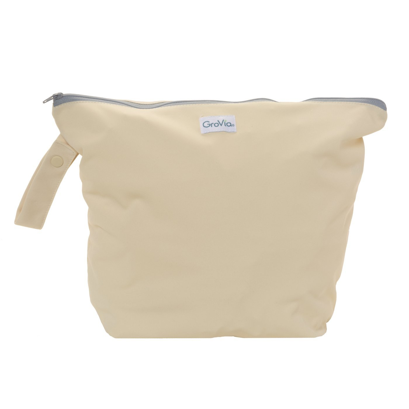 GroVia Reusable Zippered Wetbag for Baby Cloth Diapering and More (Vanilla)