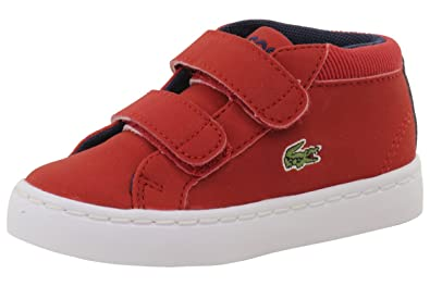 b80ed394768a37 Lacoste Toddler Boy s Straightset Chukka 416 1 Red Sneakers Shoes Sz  5T