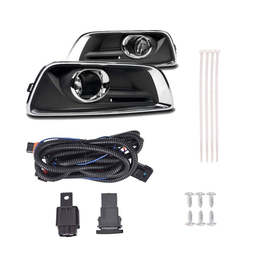 [DIAGRAM_3ER]  Amazon.com : GOTDCO. Morden Bumper Fog Headlight, Compatible for 2013-2015  Chevrolet Malibu Wiring Harness & Interior Switch Car Light, Black Bezel  Clear Glass Lens Signal Side Marker Left & Right Lamp (Black) :   2015 Silverado Fog Light Wiring Harness      Amazon.com