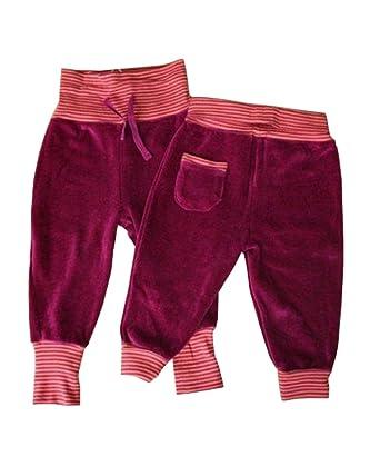 8f554a86bc2a Leela Cotton Baby Nickihose mit Ringelbündchen aus Bio-Baumwolle (50 56,  Fuchsia