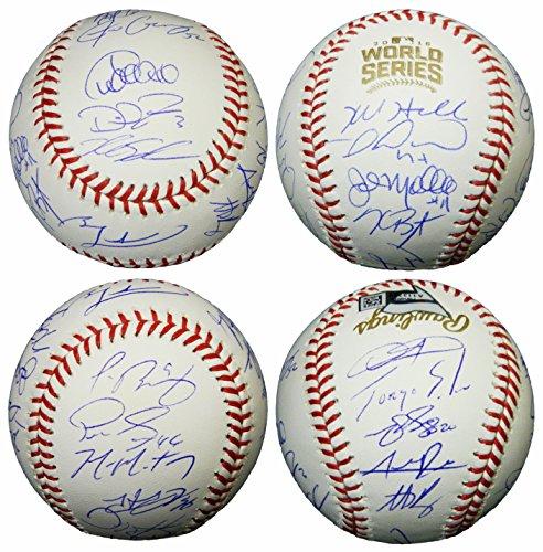2016 Chicago Cubs Team Signed Rawlings Official 2016 World Series Baseball - Schwartz COA