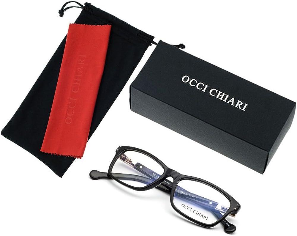 OCCI CHIARI Shining Fashion Acetate Optical Frame Occhiali da vista senza prescrizione