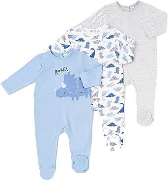TEX - Pack 2 Pijamas para Bebé Niña y Niño, Pelele, con Pies ...