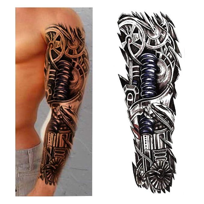 7pcs Tatuaje Tatuaje Tatuaje Fox y conejo flor completa: Amazon.es ...