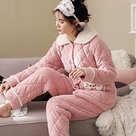 Bayrick Pijamas Mujer Invierno Polar,Pijama de Damas de ...