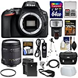 Nikon D5600 Wi-Fi Digital SLR Camera Body with Sigma 18-250mm Lens + 64GB Card + Case + Flash + Battery & Charger + Tripod Kit