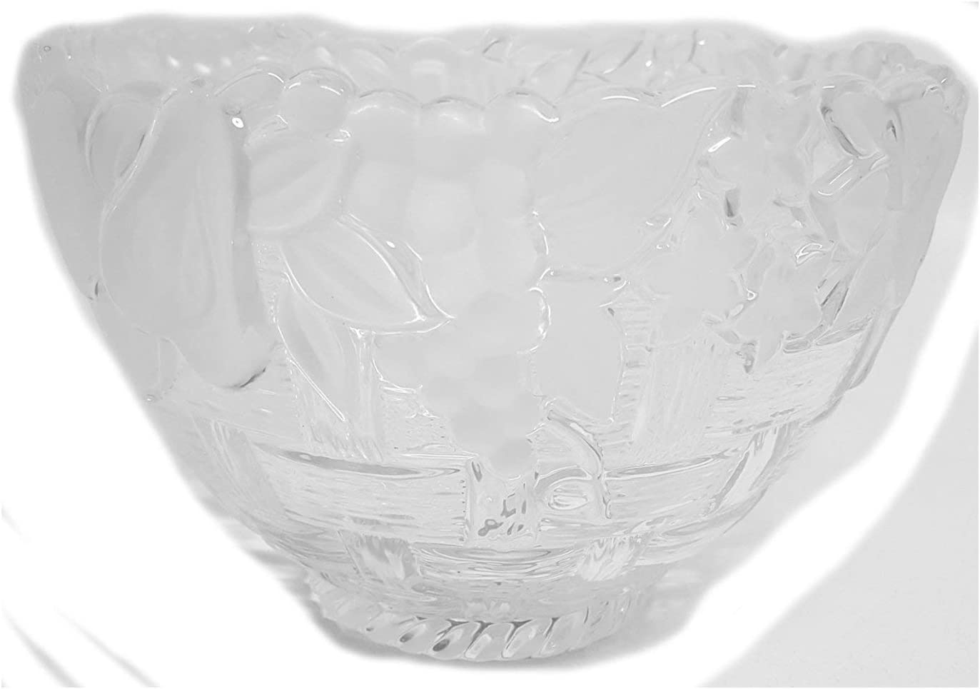 """Gorham Spring Traditions Country Terrace 9"""" Frosted Crystal Serving Bowl"""