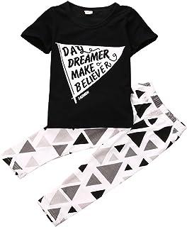 Baby Boys Short Sleeve Print T-shirt and Harem Long Pants Outfit Set