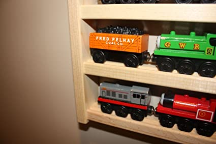 Train Rack Basic   Thomas Train Wooden Storage Display Wall Rack Shelf Play  Table Accessory Case