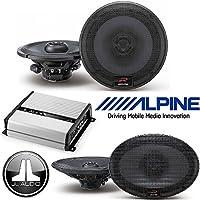 Alpine 6.5 Inch 300W Component 2-Way Car Speakers 6X9 300W Loud Type R Coaxial 2-Way Silk Tweeters Car Speakers JL Audio JX400/4D 4-channel car amplifier 70 watts RMS x 4