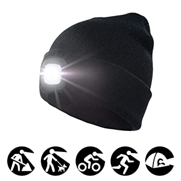Cycling Cycling Caps Autumn Winter Soft Comfortable Cycling Knitted Hats Bicycle Led Knit Caps For Men Women Bike Outdoor Sports Headlamp Beanies Cheap Sales