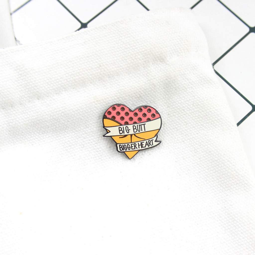 rryilong Broche Coeur avec Bande De Ruban Color/é Creative Bikini Cr/éatif /Émail /Épingles Bijoux Mode Femmes Dress Casual Cadeaux Broches Badge Ornement