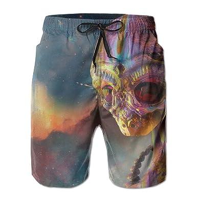 Colorido Espacio Alien Pantalones Cortos De Encaje De Secado ...