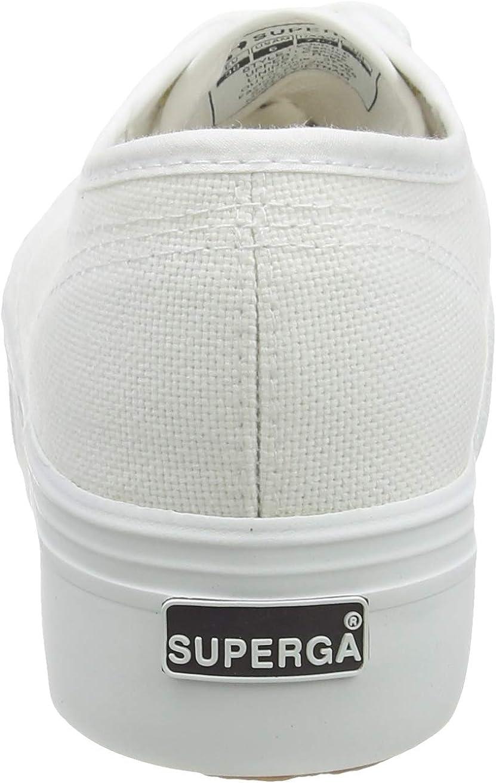 42 EU Superga 2790 Linea Up Down Unisex Adults Low-Top Sneakers 901 White 8 UK White