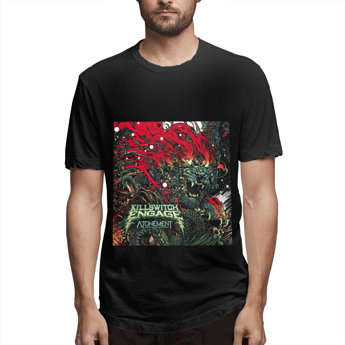 Lihehen S Killswitch Engage Retro Printing Round Neck Ts Shirts