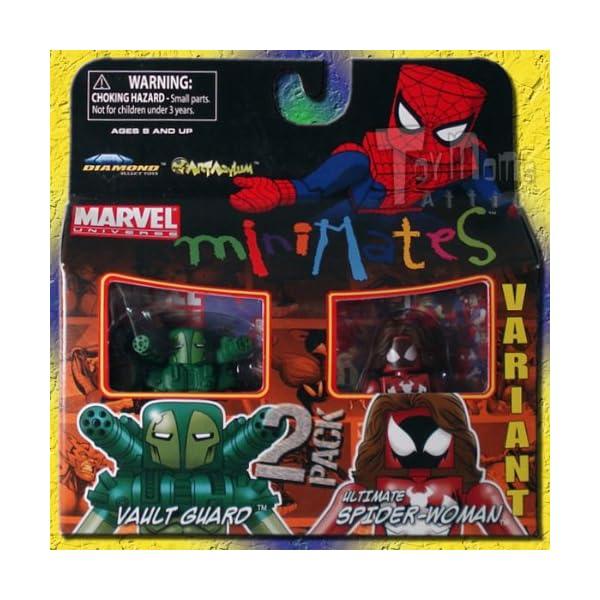 61CIjtWJBjL DIAMOND SELECT TOYS Marvel MiniMates 30: Variant Ultimate Spider-Woman & Vault Guard