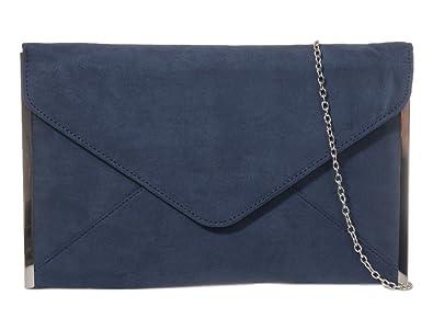 23fce0b9d1b Navy Blue Envelope Clutch Bag, Dark Blue Faux Suede Evening Bag with Silver  Tone Trim, Ladies Shoulder Bag, Prom Wedding Handbag: Amazon.co.uk: Shoes &  Bags