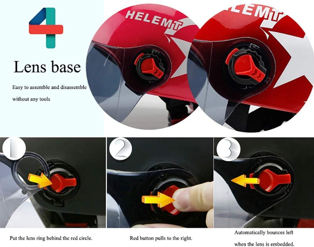 ANAN Jethelme Motorradhelm mit Abnehmbaren Brillen Visier Shield Universalgr/ö/ße Atmungsaktiv f/ür Erwachsene M/änner /& Frauen Matt-schwarz 54-62cm