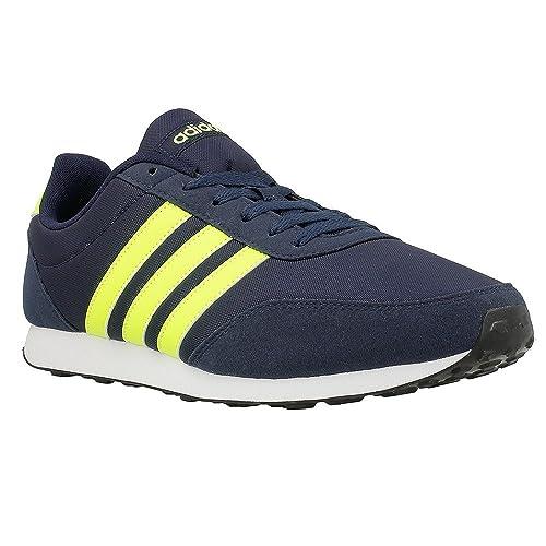new arrival 6e688 af515 Adidas - V Racer 20 - BC0110 - Colore Blu marino-Giallo-Nero - Taglia  46.6 Amazon.it Scarpe e borse