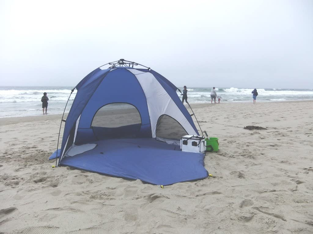 Genji Sports One Step Instant Push Up Hexagon Beach Tent
