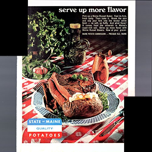 State Of Maine Quality Potatoes Serve Up More Flavor 1967 Antique (Maine Potato)
