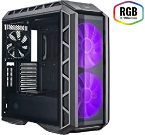 Cooler Master MasterCase H500P - RGB PC Case with Dual 200mm Fans for High-Volume Airflow, Builder-Focused Chassis Panels, Liquid Cooling Ready