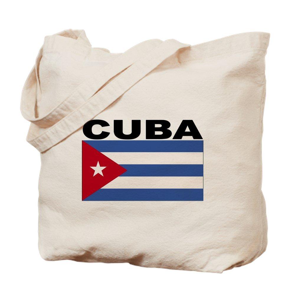 CafePress – キューバフラグ – ナチュラルキャンバストートバッグ、布ショッピングバッグ B01LOQ468U