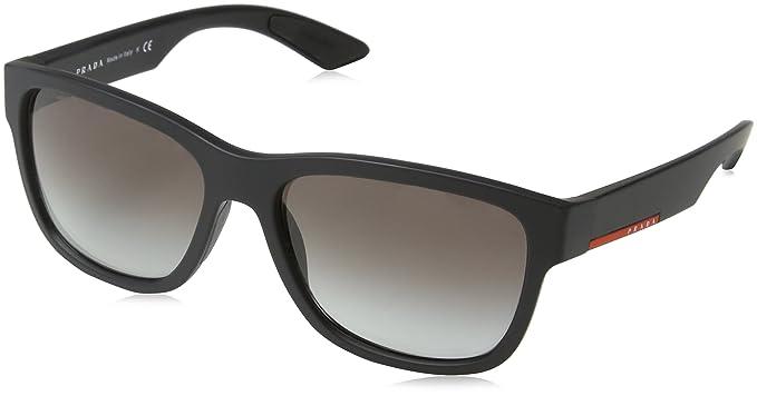 9687ccd0fdda Prada Sport Men's 0Ps03Qs Dg00A7 57 Sunglasses, Black Rubber/Greygradient