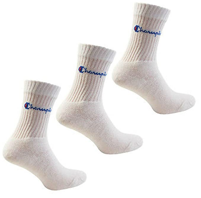 Champion - Lote de 3 pares de calcetines para hombre, talla 43/46